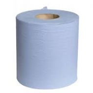Centre Feed Blue Paper Rolls x 6